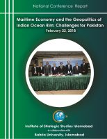 National Conference Report on Maritime Economy and the Geopolitics of Indian Ocean Rim: Challenges for Pakistan