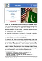 Issue Brief on Pakistan-US Relations: Need for a Measured Approach
