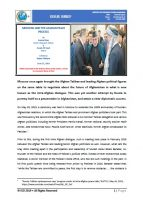 Issue Brief on Moscow and the Afghan Peace Process
