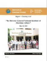 Report – Courtesy Call by Director General National Institute of Maritime Affairs