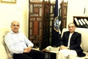 Meeting with Vice Admiral (Retd) Khan Hasham Bin Siddique